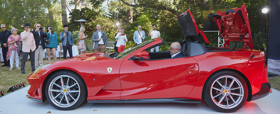 Ferrari Melbourne celebrates the launch of the Ferrari 812 GTS in an intimate Garden Party setting in the Gardens of Como House.